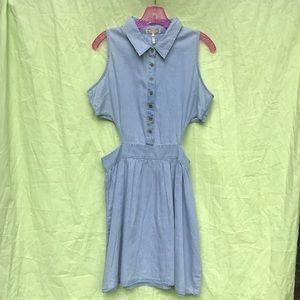 Denim cut-out dress